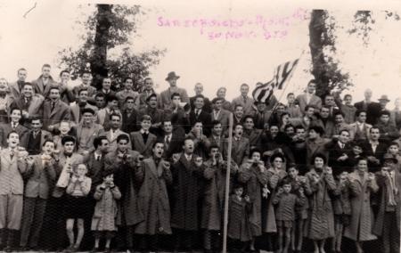 partita di calcio Sansepolcro-Montevarchi 20 novembre 1952