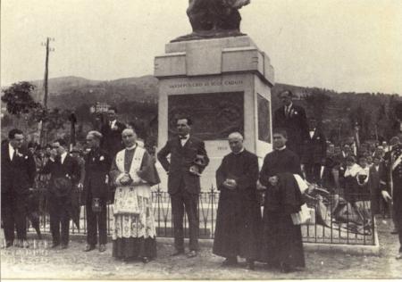 inaugurazione del monumento ai caduti, 28 giugno 1925