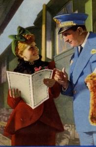 Copertina dei documenti di viaggio CIT del viaggio di nozze, 1937