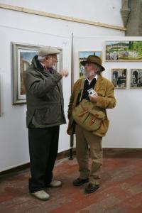 Ubaldo Mariucci e Fausto Braganti, mostra delle opera di Baldino a Citta' di Castello, novembre 2006