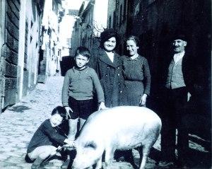 1942 la soddisfazione d'avere un maiale