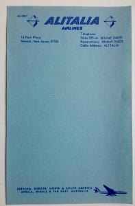 carta Alitalia pre67