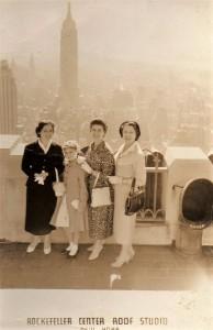 da sinistra: Nara Donnini Maneri, Jane Maneri , sig.ra Benassi e Letizia Buitoni
